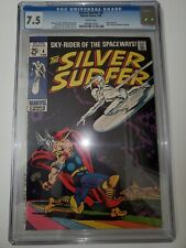 SILVER SURFER #4 CGC 7.5 White Pages CLASSIC COVER Thor Marvel Stan Lee 1969