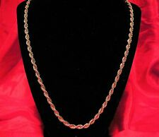 "Monet - 27"" long X 1/4"" wide - Twisted Gold Tone Rope Chain - Necklace"