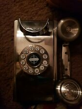Crosley Cr55 Wall Phone - Brushed faux stainless look