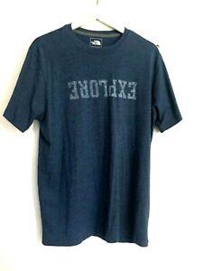 The North Face Blue T-Shirt, Explorer, Size L