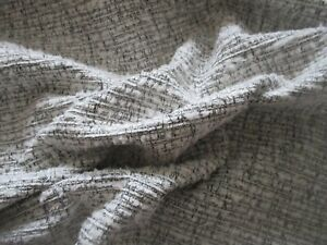 BARGAIN ROLL END 9.6 METRES OF GREY & CHARCOAL WOVEN CHENILLE UPHOLSTERY FABRIC.