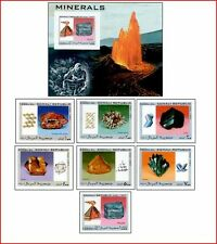 SOM97022 Minerals 7 stamps and block