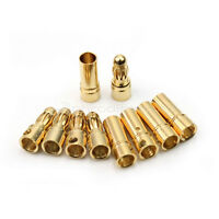 New 20 Pairs 3.5mm Gold-plated Metal Bullet Banana Plug Connector RC Battery