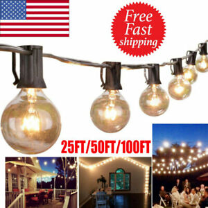 25/50/100FT Waterproof G40 Globe Bulbs Patio Hanging String Lights Outdoor Light