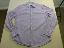 037 MENS NWOT INDUSTRIE WHITE / RED / PURPLE / BLUE CHECK L/S SHIRT LRG $90 RRP.