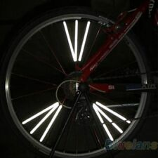 12PCS 75mm Bicycle Wheel Rim Spoke Bike Mount Tube Warning Light Strip Reflector