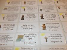 20 NKJV Bible Verse Laminated Flashcards. Preschool Bible Study Curriculum flash