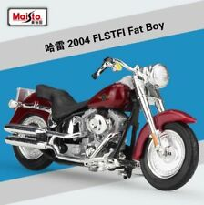 1:18 Maisto Harley Davidson 2004 FLSTFI Fat Boy Motorcycle Model Red New In Box