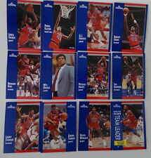 1991-92 Fleer Washington Bullets Team Set Of 12 Basketball Cards