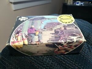 Vintage Tuco Miniature Round Picture Puzzle Lobster Fishing Traps Mt. Desert ME