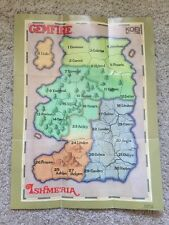 Gemfire Map Poster SNES Super Nintendo Instruction Manual Only