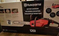 """HUSQVARNA 40 Volt Li-ion 14"""" Cordless Chainsaw - 120i **NEW**"""