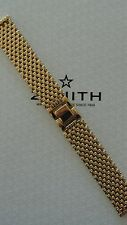 NOS VINTAGE 20MM FINE GOLD LINK WATCH BAND WATCHBAND BRACELET STRAP FOR ZENITH F
