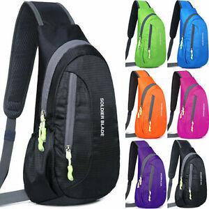 Men Sports Chest Pack Waterproof Sling Shoulder Crossbody Casual Backpack Bag