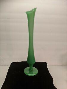 Vintage Jade Colored Swung Vase