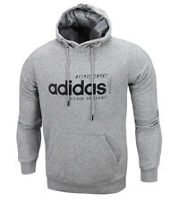 adidas Men Brilliant Basic Hoodie Gray Casual Apparel Sports Outdoor NWT EI4621