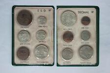 Australian Pre- decimal & 1966 Decimal Coin Set in BP Souvenir Wallet UNC (SC38)