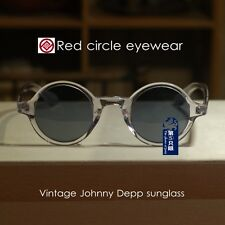 Round Johnny Depp polarized sunglasses vintage mens crystal glasses black lenses