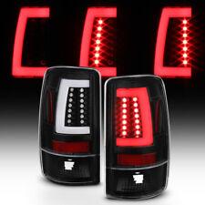 Black 2000-2006 Chevy Suburban Tahoe GMC Yukon [LED Bar] Tail Lights Brake Lamps