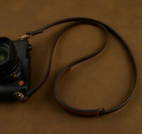 Handmade Genuine Leather Camera Neck Shoulder Strap for Leica Sony Fuji Brown