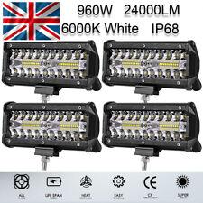 4Pcs 960W Car LED Work Spot Lights Spotlight Lamp 4x4 Van ATV Offroad SUV Truck