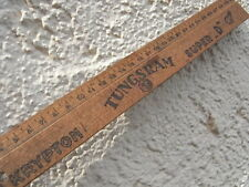 Altes Lineal Holz Tungsram - Krypton - Super D Röhre Glühbirne Werbung