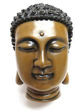 Golden Stone Buddha Head Sculpture Statue
