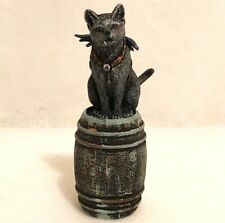 Dollhouse Miniature Cat Barrel Vampire 1:12 Halloween