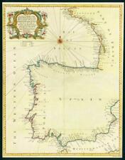 1746 Antique Map - Spain Portugal France BAY OF BISCAY Western Ocean SEA (LM6)