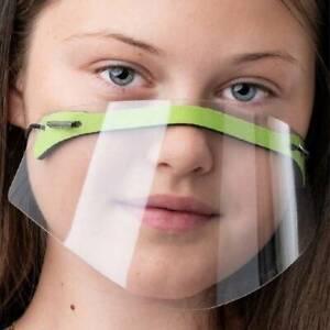 HOT!Gesichtsmaske Mund Nasen Visier Gesichtsschutz Gesichtsvisier transparent*DE