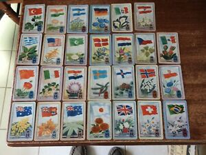 Vintage Retro 1956 Melbourne Olympic Games exclusive Coles Cards x 27 Flags