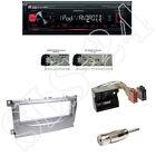 Kenwood KMM-202 USB Radio + Ford C-MAX ab 07 Blende silber + Quadlock Adapter