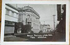 Tres Arroyos, Buenos Aires, Argentina 1954 Realphoto Postcard: 'Banco Provincia'
