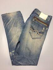 AVH Costume Japanese Vintage Distressed Men's Jeans Slim Straight 33W 32L