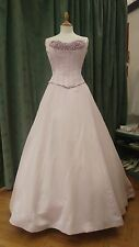 SINCERITY Bridal Wedding Dress  Rose Pink Satin UK 12 NOW £95 WAS £799