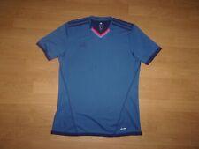 Adidas Climalite Blue V-neck mens T-shirt size M