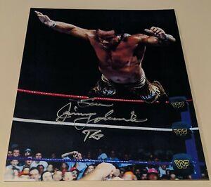 WWE WWWF Jimmy Jimmie Superfly Super Fly Snuka signed auto 8 x by 10 photo coa