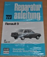 RENAULT 9 ab 9/1981 Motor Bremsen Kupplung Elektrik Reparaturanleitung B723