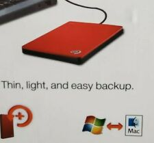 Seagate Backup Plus Slim 2TB External HDD - Black USB 3.0 (STHN2000401)
