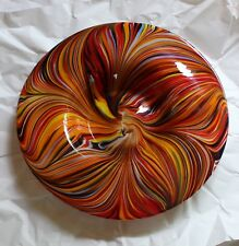 """NEW Missoni for Target Multi-Color Hand-Blown Glass 14"""" Platter Bowl Plate"""