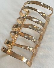CUSTOM JEWELZ WOMENS BRASS GOLD CLEOPATRA CUFF BRACELET NWOT!