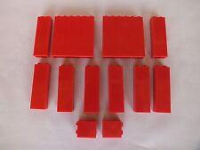 Lego 12x Panel Wand rot 1x2x5 1x6x5 1x2x2, 2454 3245b 3754, red 7945 2150 8144