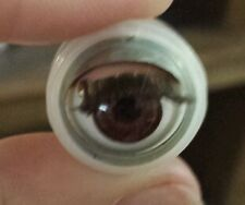 16mm plastic brown antique sleep eyes