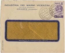 CHIAMPO - INDUSTRIA DEI MARMI VICENTINI (VICENZA) 1937