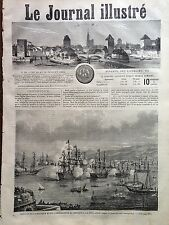 LE JOURNAL ILLUSTRE 1864 N 24 L' EMPEREUR DU MEXIQUE A LA VERA CRUZ