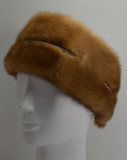 Real Whiskey Mink Fur  Headband  New  made in the U.S.A. Genuine authentic