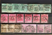 South Africa 1900-05 DUPLICATED USED LOT OF OVERPRINTS AND SURCHARGES (22)