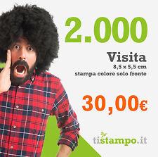 2000 BIGLIETTI DA VISITA 300 GR. STAMPA FRONTE A 30 EURO