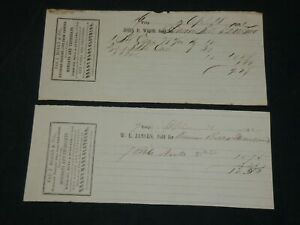 1861-1862 JAS J. BOARDS & CO'S RAILROAD FREIGHT BILLS LOT OF 2 - J 5953