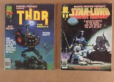 Thor & Star Lord Graphic Novels- Marvel Preview 10 & 14 - 1977/1978